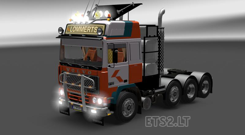 2 Axle Truck : Volvo f heavy truck with lift axles ets mods