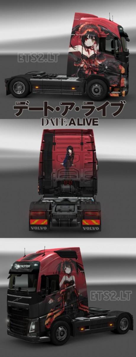 Volvo-FH-2012-Kurumi-Date-Alive-Skin