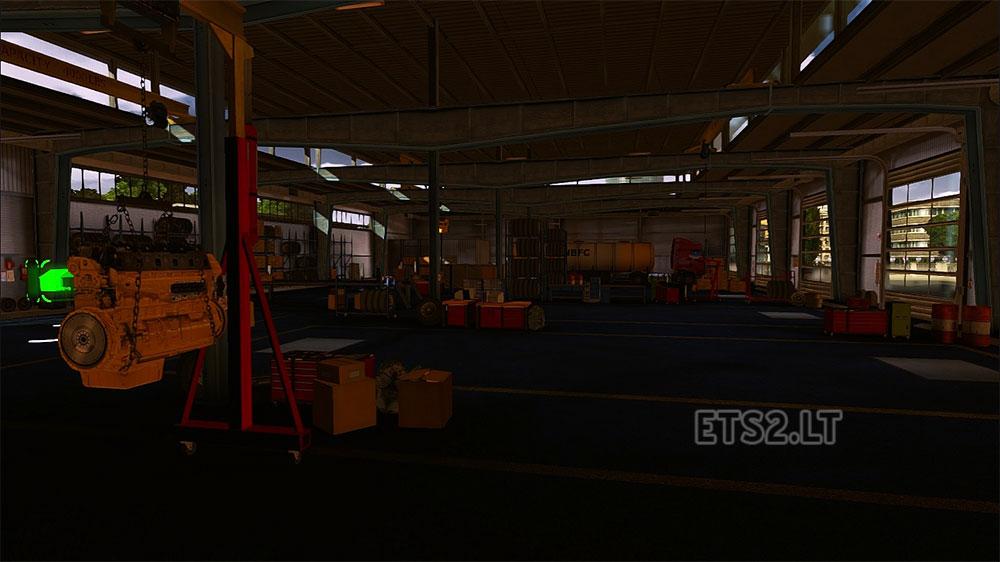 New big garage ets 2 mods for Large garages