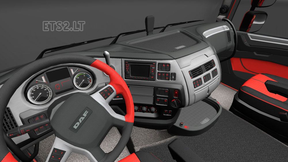 Daf xf euro 6 red interior ets 2 mods for Daf euro 6 interieur
