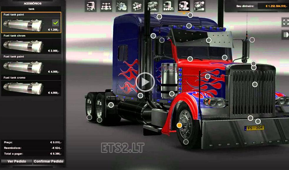 Optimus Prime Peterbilt 389 & Trailer | ETS 2 mods