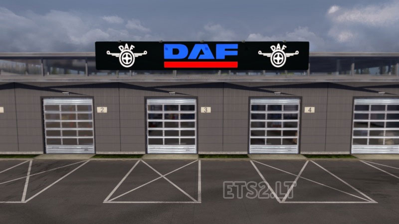 daf garage ets 2 mods