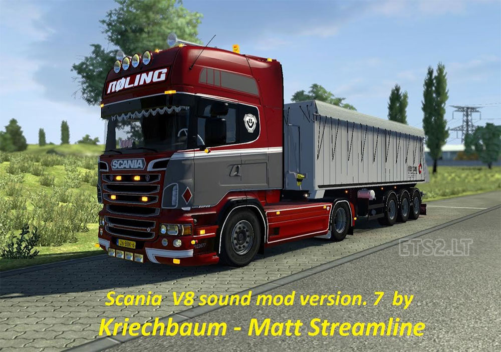 Scania V8 sound mod version .7 | ETS 2 mods