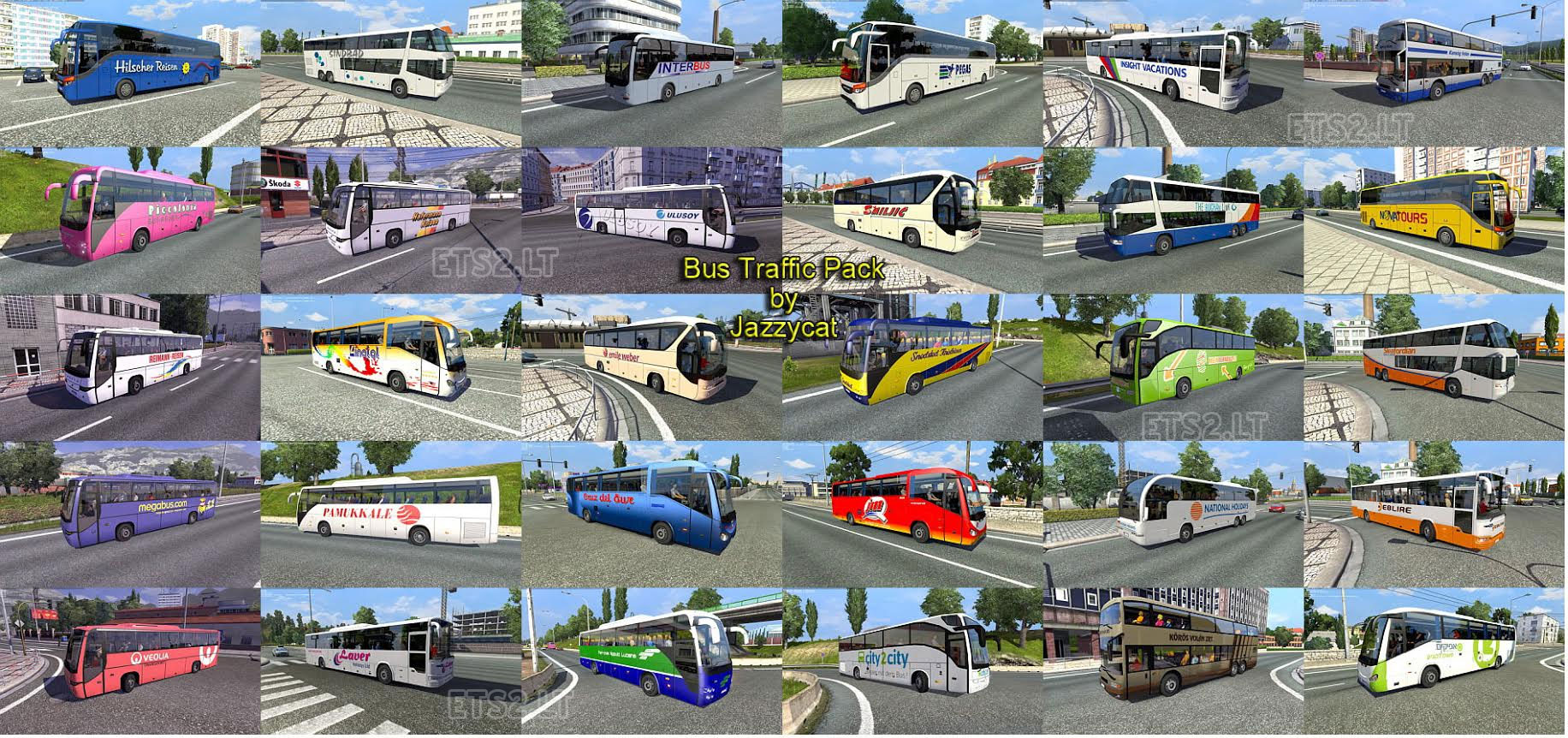 Bus traffic pack by Jazzycat v1 1 1 | ETS 2 mods