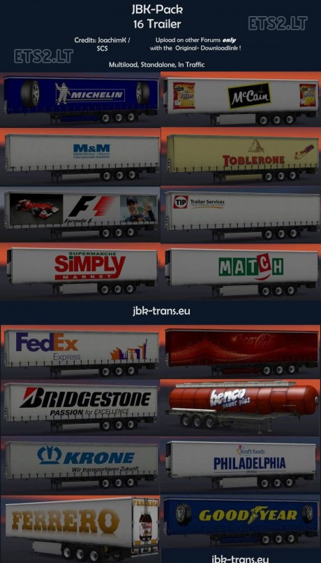 16-Trailers -Pack