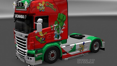 Scania-R-Simpsons-Skin-1
