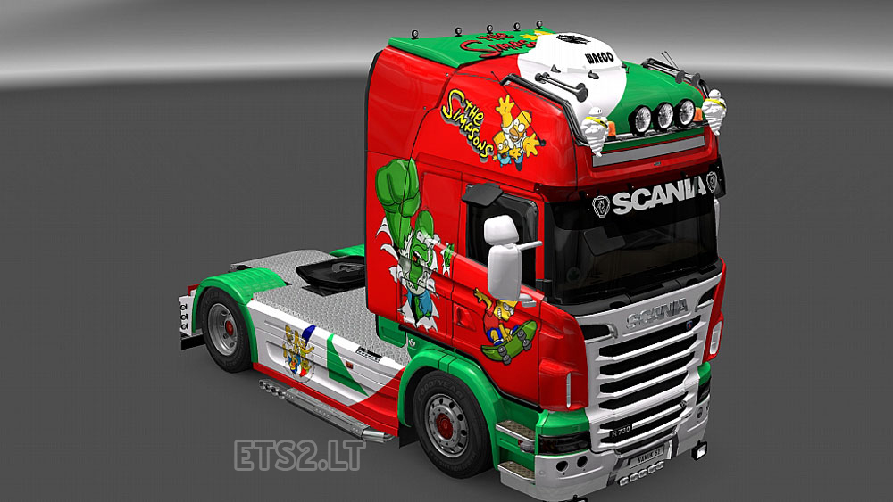 Simpsons skin for scania r truck