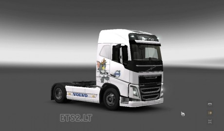 Volvo-FH-2012-Tom-and-Jerry-Skin-1