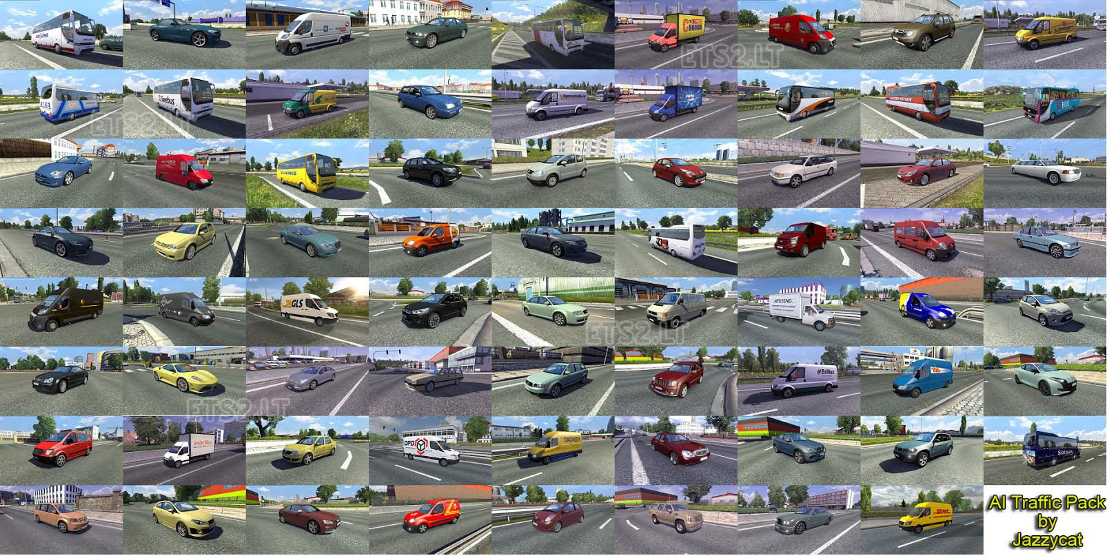 Ai Traffic Pack By Jazzycat V2 2 Ets 2 Mods