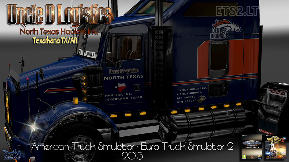 Kenworth T800 update v 1 02 | ETS 2 mods