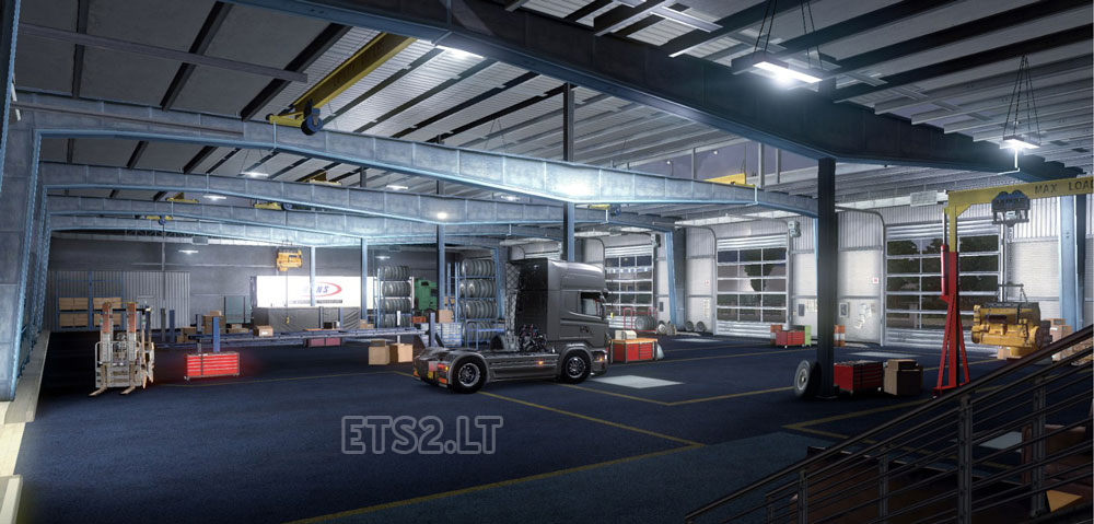Big garage with your company name ets 2 mods for Large garages