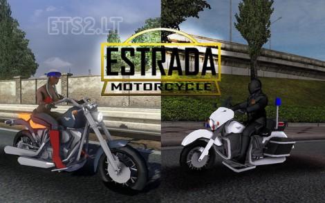 Motorcycle-Estrada-in-Traffic
