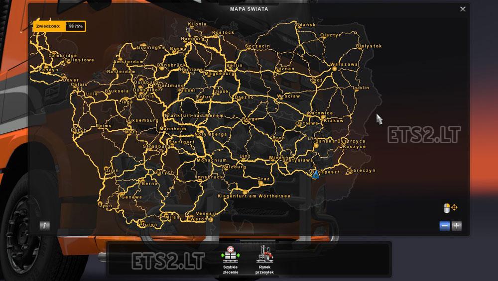 Скачать мод на euro truck simulator 2 на карту