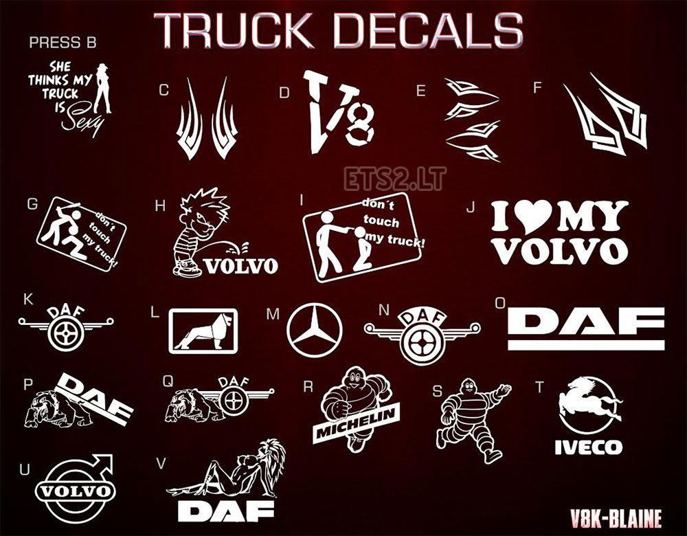 Truck Decals Windows Font Ets 2 Mods
