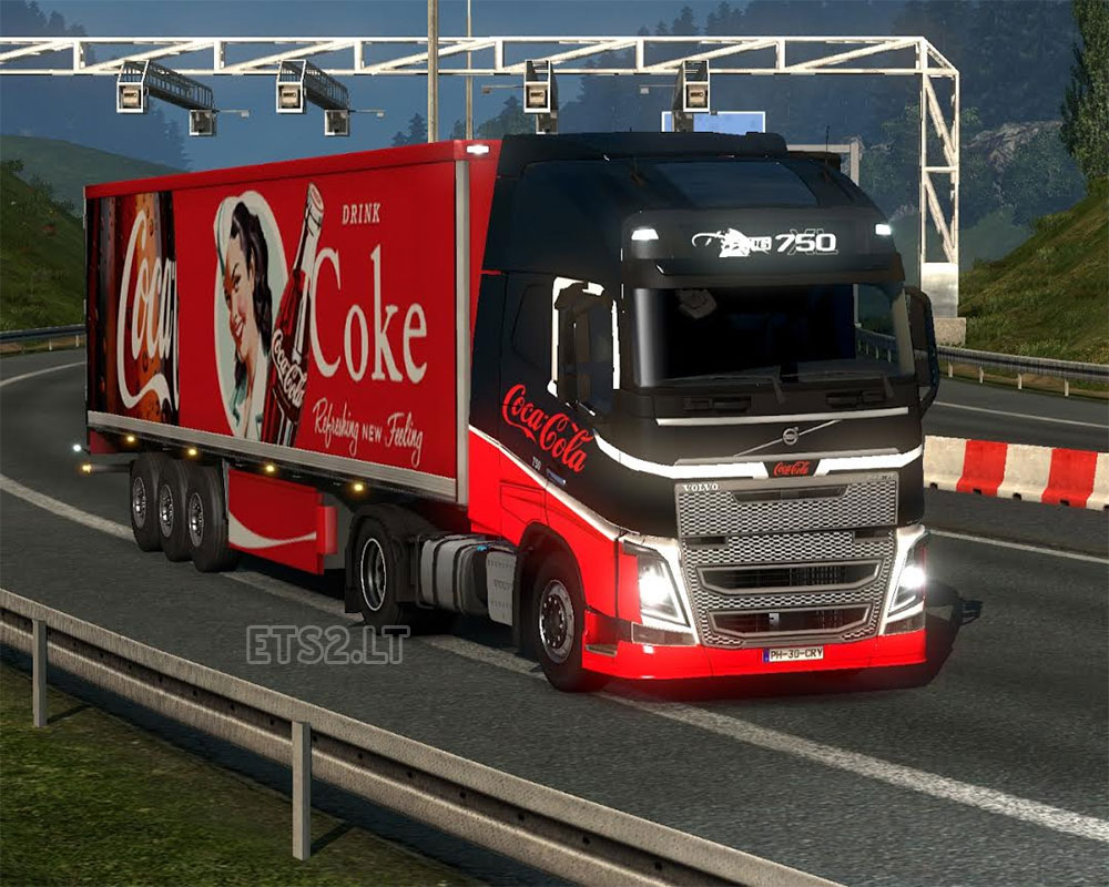 Coca Cola Volvo Skin And Trailer Ets 2 Mods