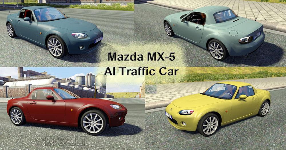 Mazda MX-5 AI Traffic Car | ETS 2 mods