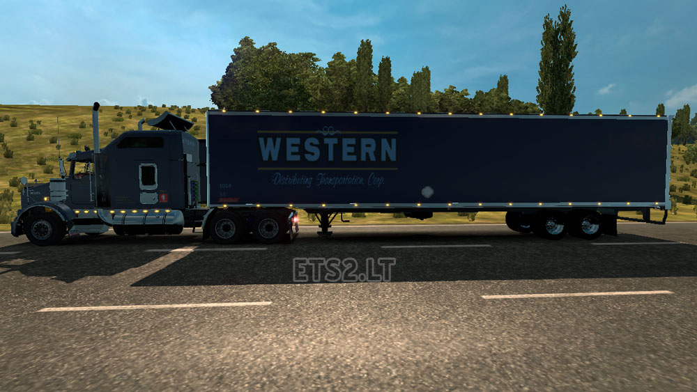 DC Western T800 + American Trailer Combo Skin Pack 01 | ETS