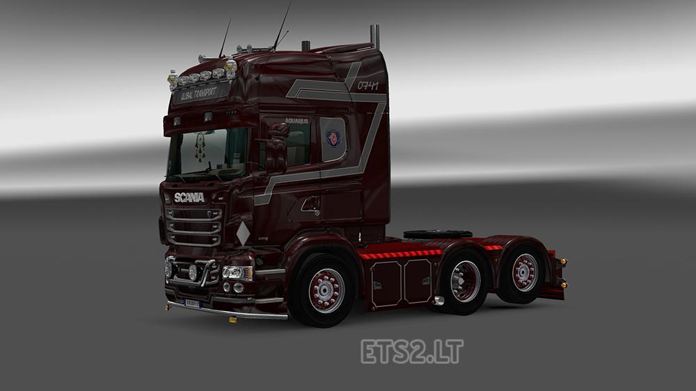 Scania RJL Global Transport Skin   ETS 2 mods