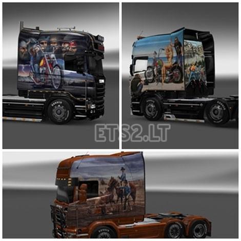 Scania R Longline V8 Skin Pack-1