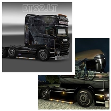 Scania R Longline V8 Skin Pack-2