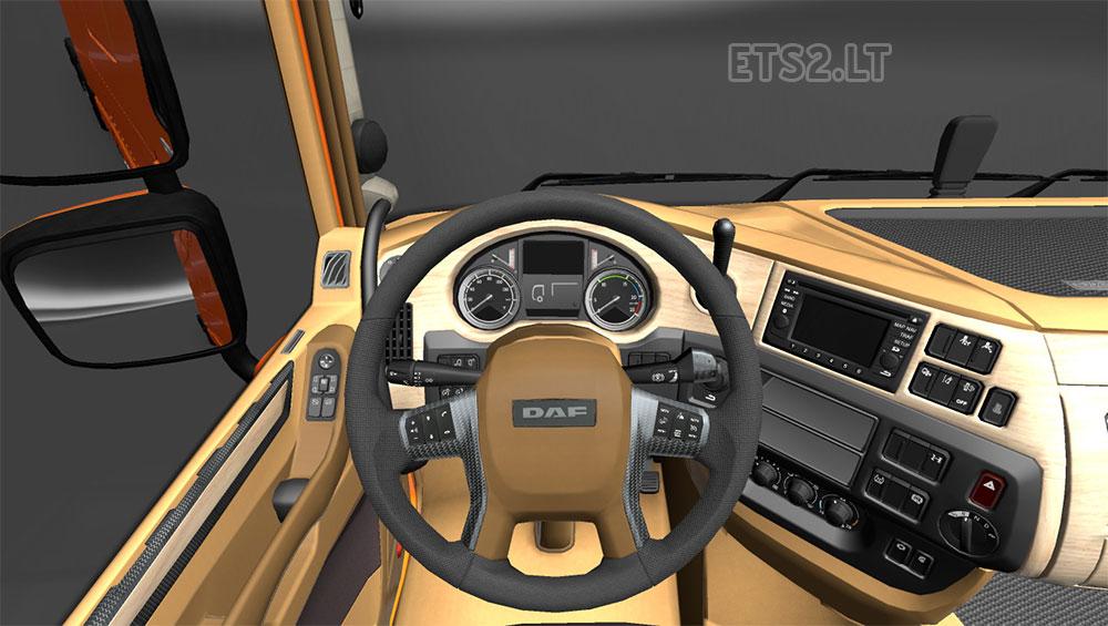 Interior DAF xf 6 by deathorange | ETS 2 mods