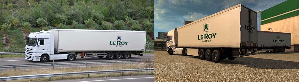 Le roy logistique trailer skin - Le roy logistique ...