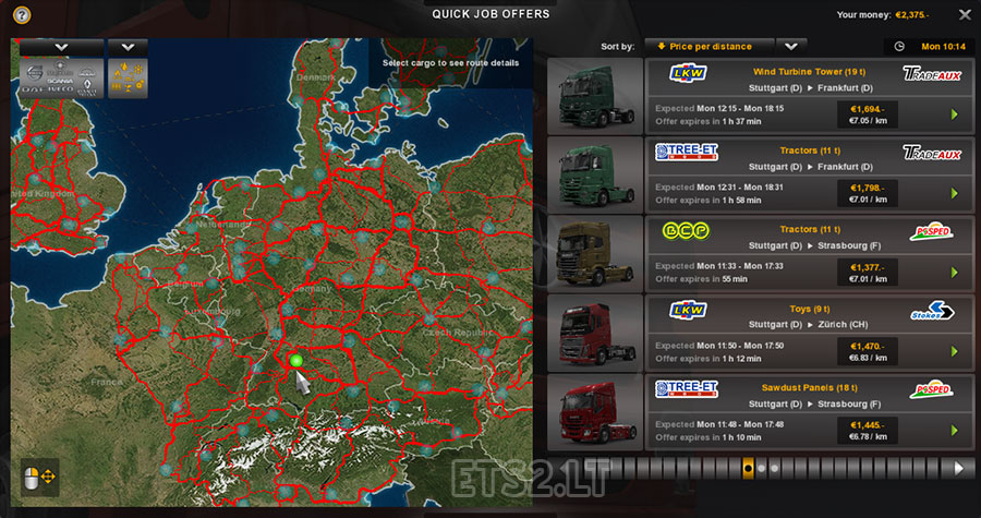 background map | ETS 2 mods - Part 2