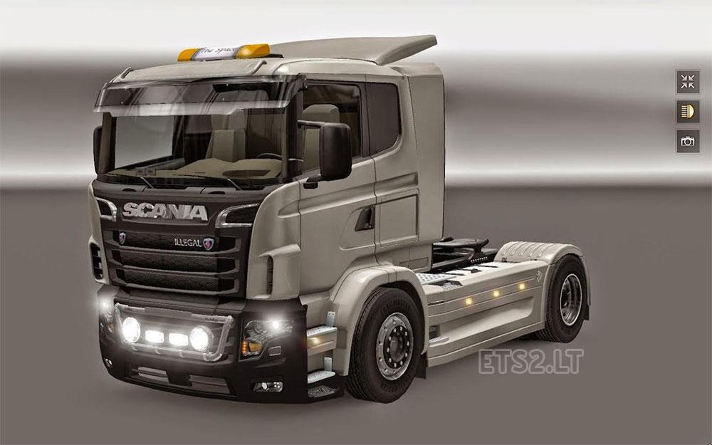 Scania Illegal V8 | ETS 2 mods