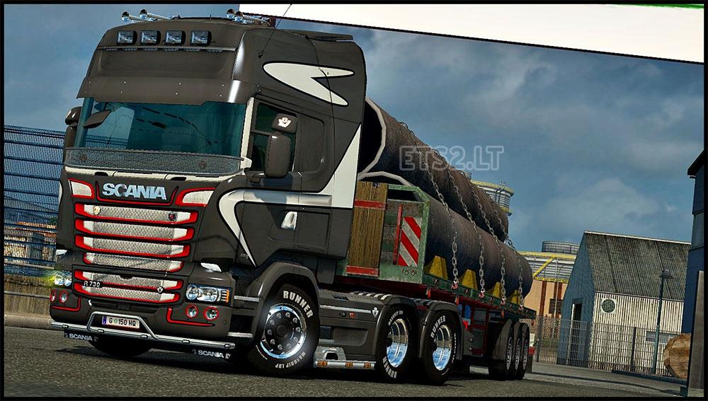 Scania rjl white interior ets 2 mods - Scania Rjl Topline Skin Ets 2 Mods