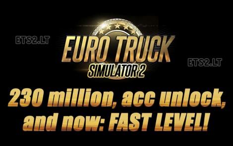 230 millon to Iniciate + all acc unlock + Fast Level