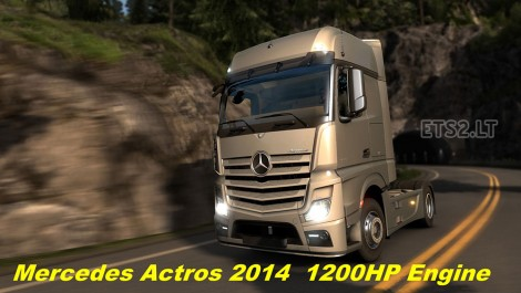 Mercedes Actros MP4 2014 1200 hp Engine