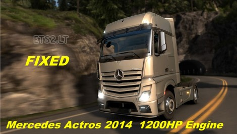 Mercedes Actros MP4 2014 1200 hp Engine Fixed