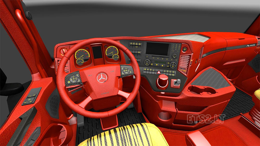 Mercedes Benz Red Leather Interior Ets 2 Mods
