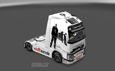 VOLVO FH 2013 BEYONCE AND JAY Z SKIN FOR ETS2 - Euro Truck