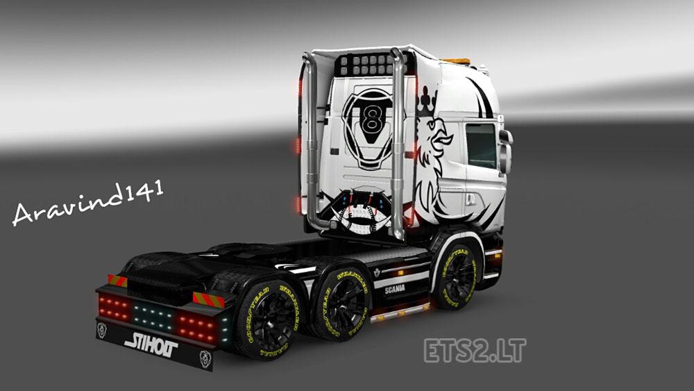 Scania Custom Skin v 2.0 | ETS 2 mods Goodyear Tires