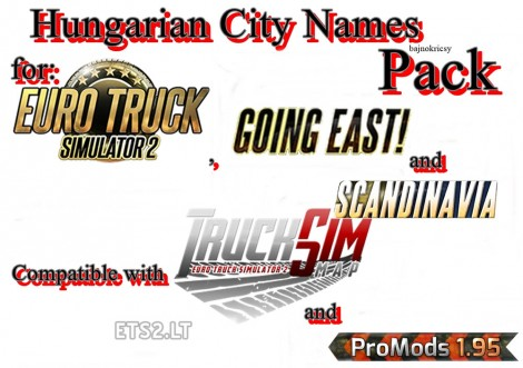 Hungarian City Names Pack