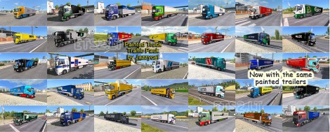 Painted Truck Traffic Pack (3)