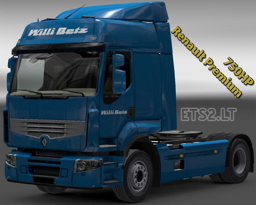 renault premium 750 hp engine ets 2 mods. Black Bedroom Furniture Sets. Home Design Ideas