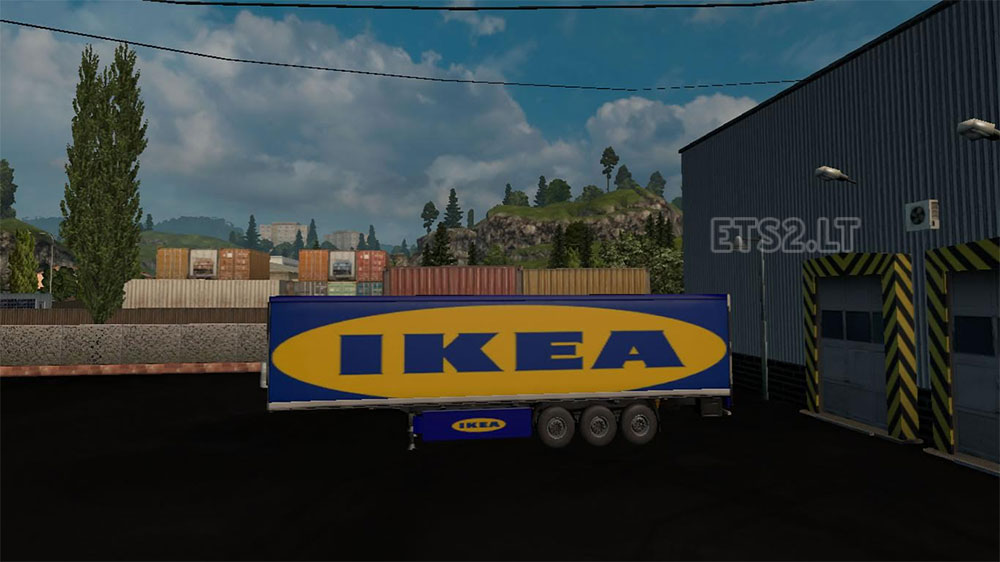 Ferrari ikea mcdonald s trailer skins ets 2 mods Ikea simulation