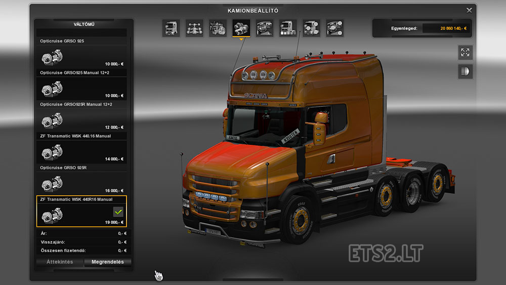 scania gears | ETS 2 mods