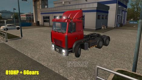 MAZ 6422M 810 hp 6 Gears