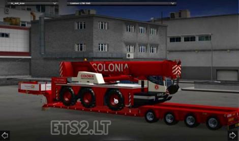 Trailer with Liebherr LTM 1045 Crane
