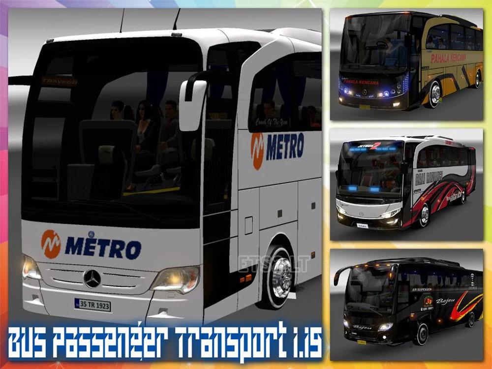 Bus Passenger Transport and Terminal Mode v2 ETS 2 mods