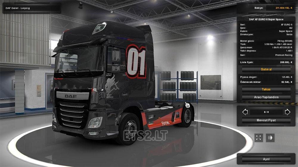Daf euro 6 interior ets 2 mods for Daf euro 6 interieur