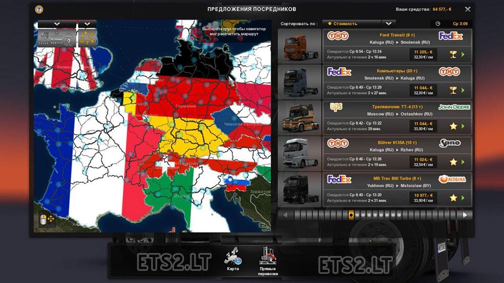 background map | ETS 2 mods - Part 2