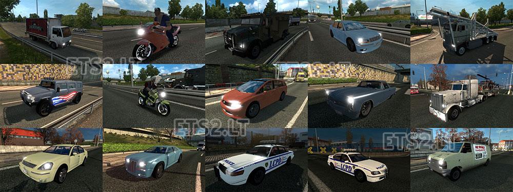 GTA IV Traffic Pack v 1 0 update   ETS 2 mods