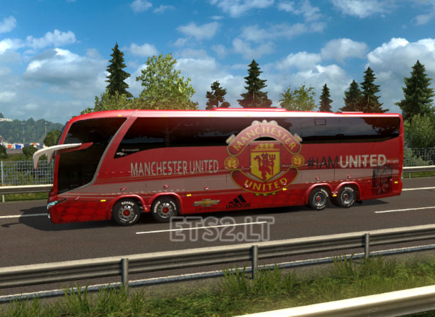 Bus Macropolo G7 1600LD Manchester United Skin | ETS 2 mods