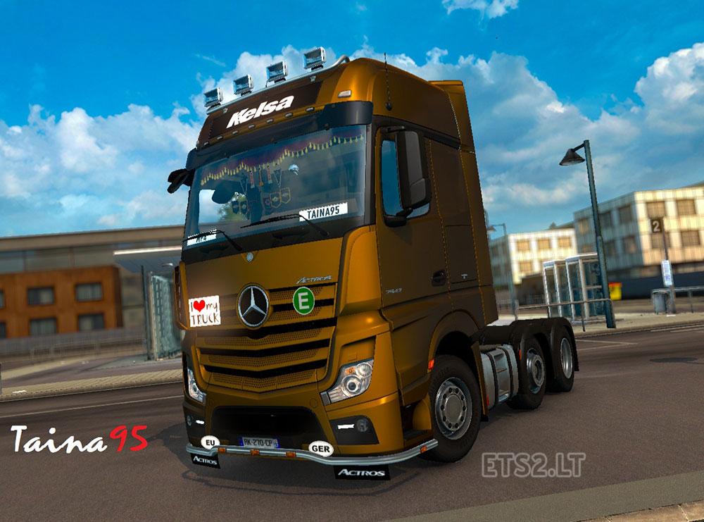mercedes actros mp4 v 1 6 cabin accessories dlc ets 2 mods. Black Bedroom Furniture Sets. Home Design Ideas