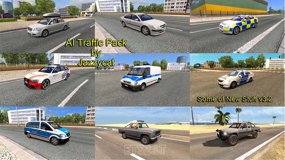 Ai Traffic Pack By Jazzycat V3 2 Ets 2 Mods