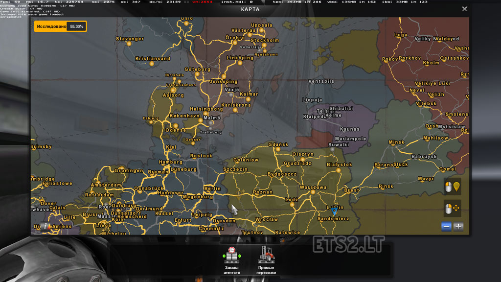 baltics country map beta version 0 1 fix ets 2 mods. Black Bedroom Furniture Sets. Home Design Ideas